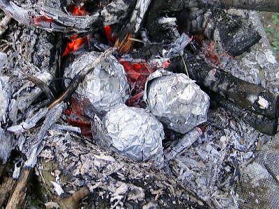 キャンプでじゃがバター|新聞紙と一緒に焚火に投入するだけの簡単な作り方