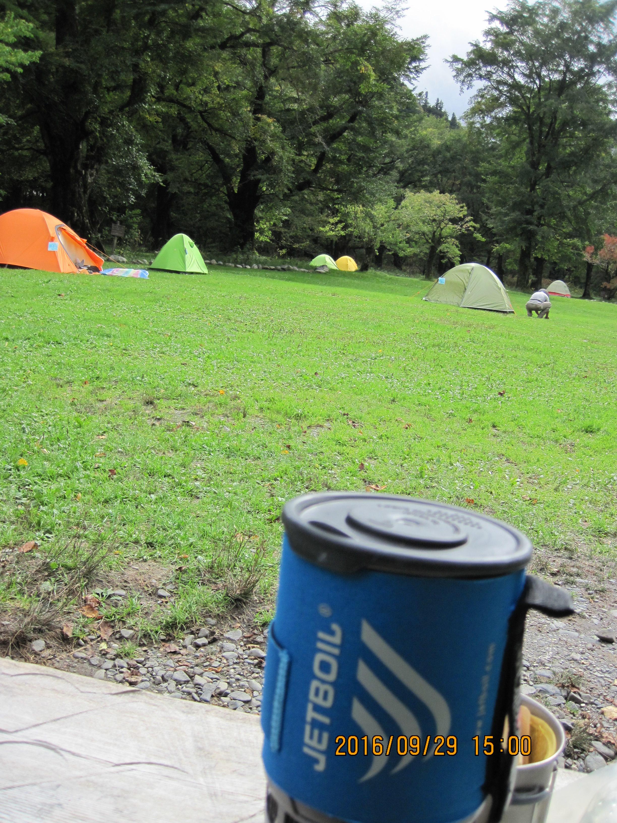 徳沢園キャンプ場