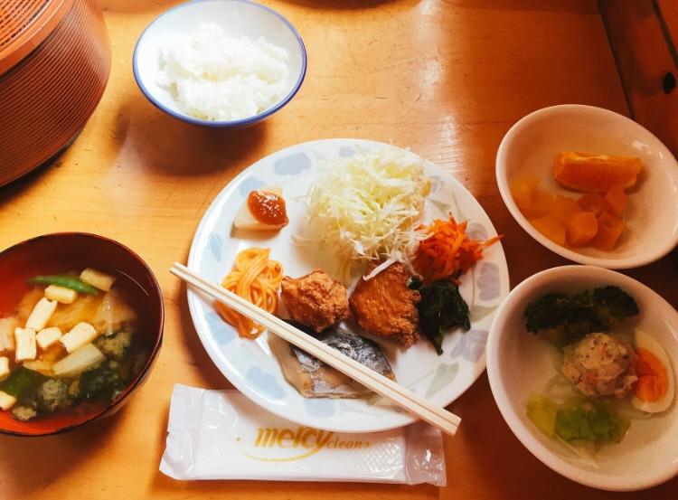 笠ヶ岳山荘での夕食