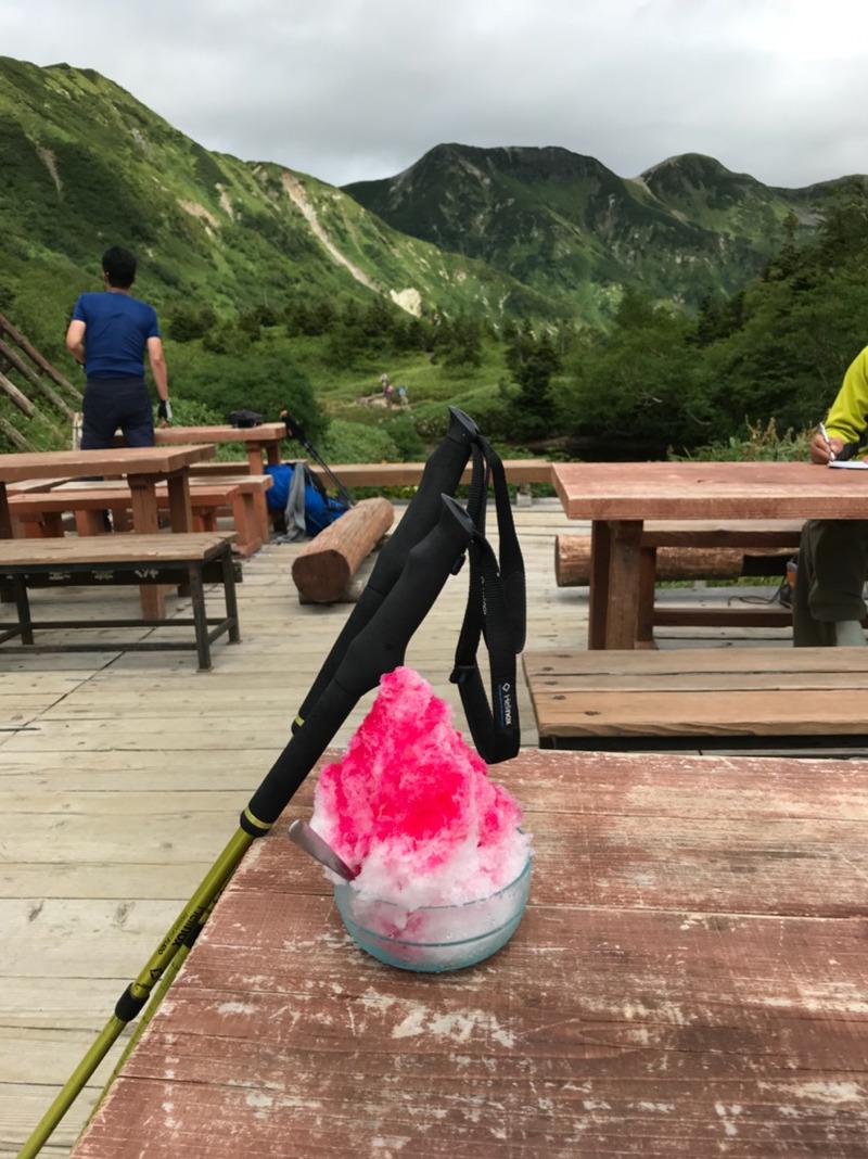 鏡平山荘名物、かき氷