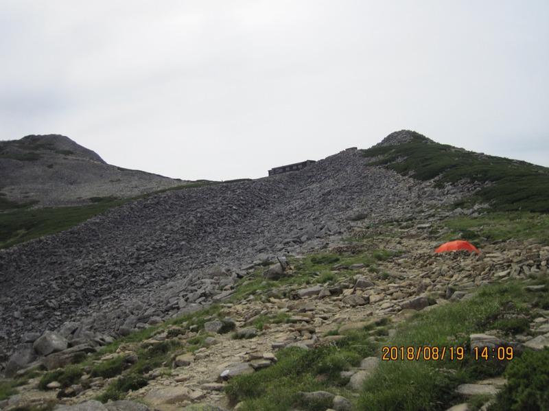 笠ヶ岳山荘ロックオン