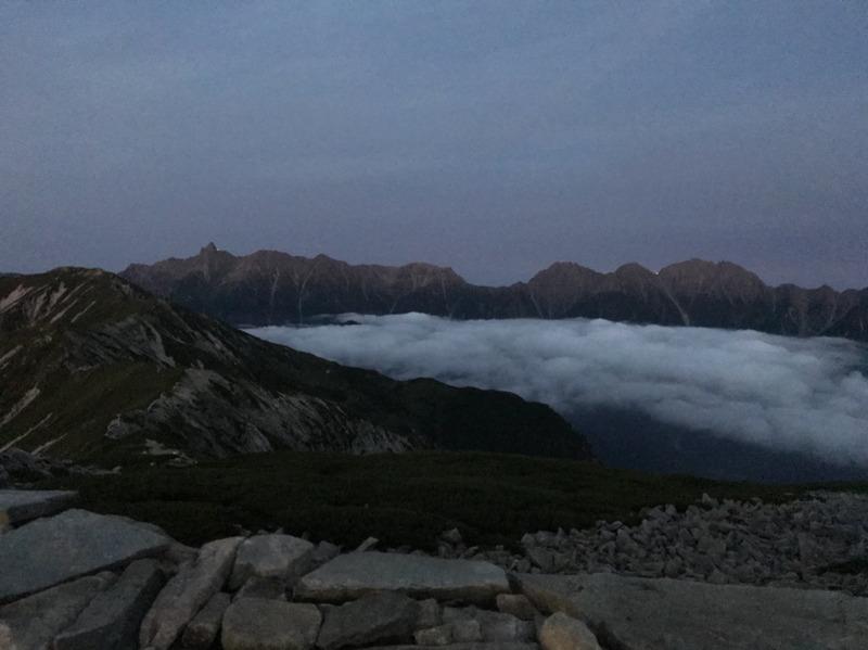 笠ヶ岳の夕暮れ