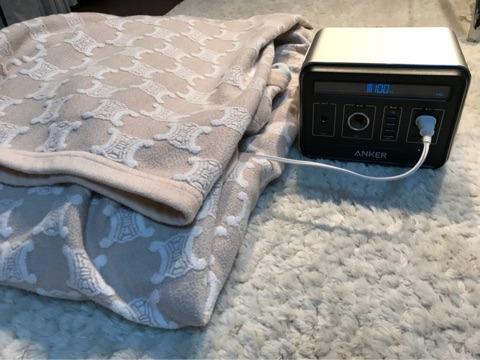 電気毛布を毛布でくるむ