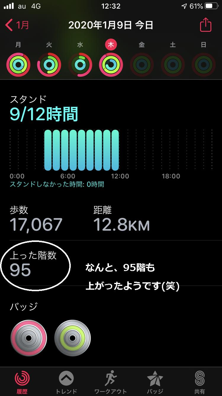 登った階段数