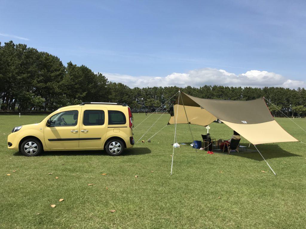 浜名湖畔のキャンプ場