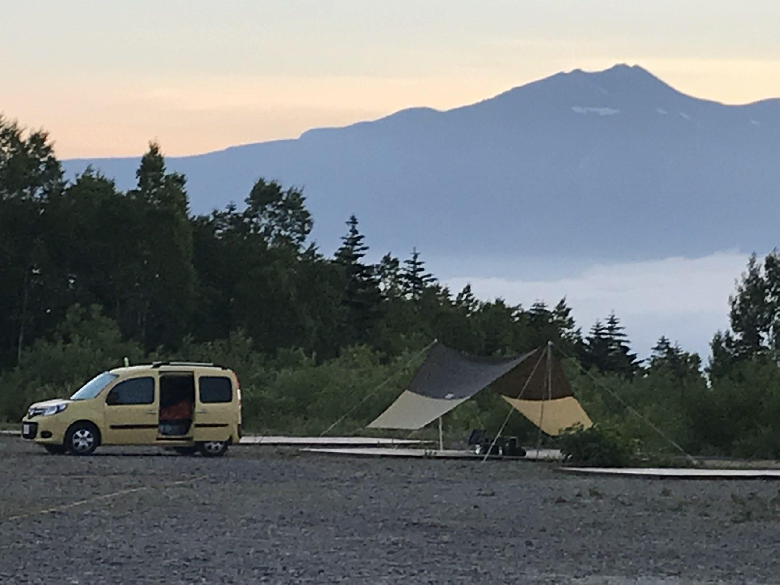 御嶽チャオキャンプ場の朝
