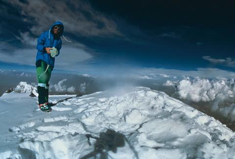 エベレスト山頂のヒラリー