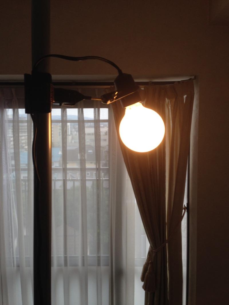 ワンポールテント用電灯の試し設定