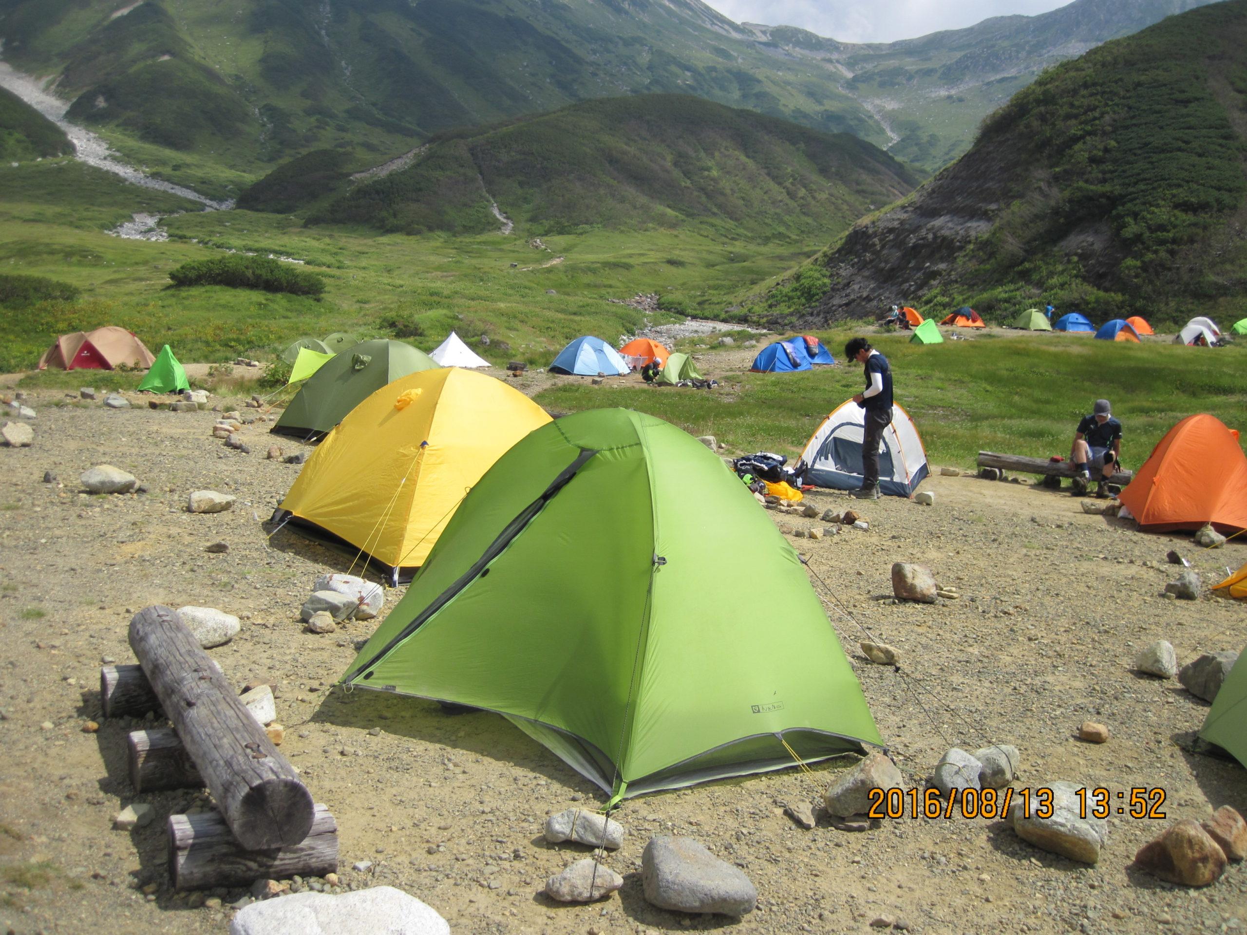 ニーモ タニ1Pでテント泊