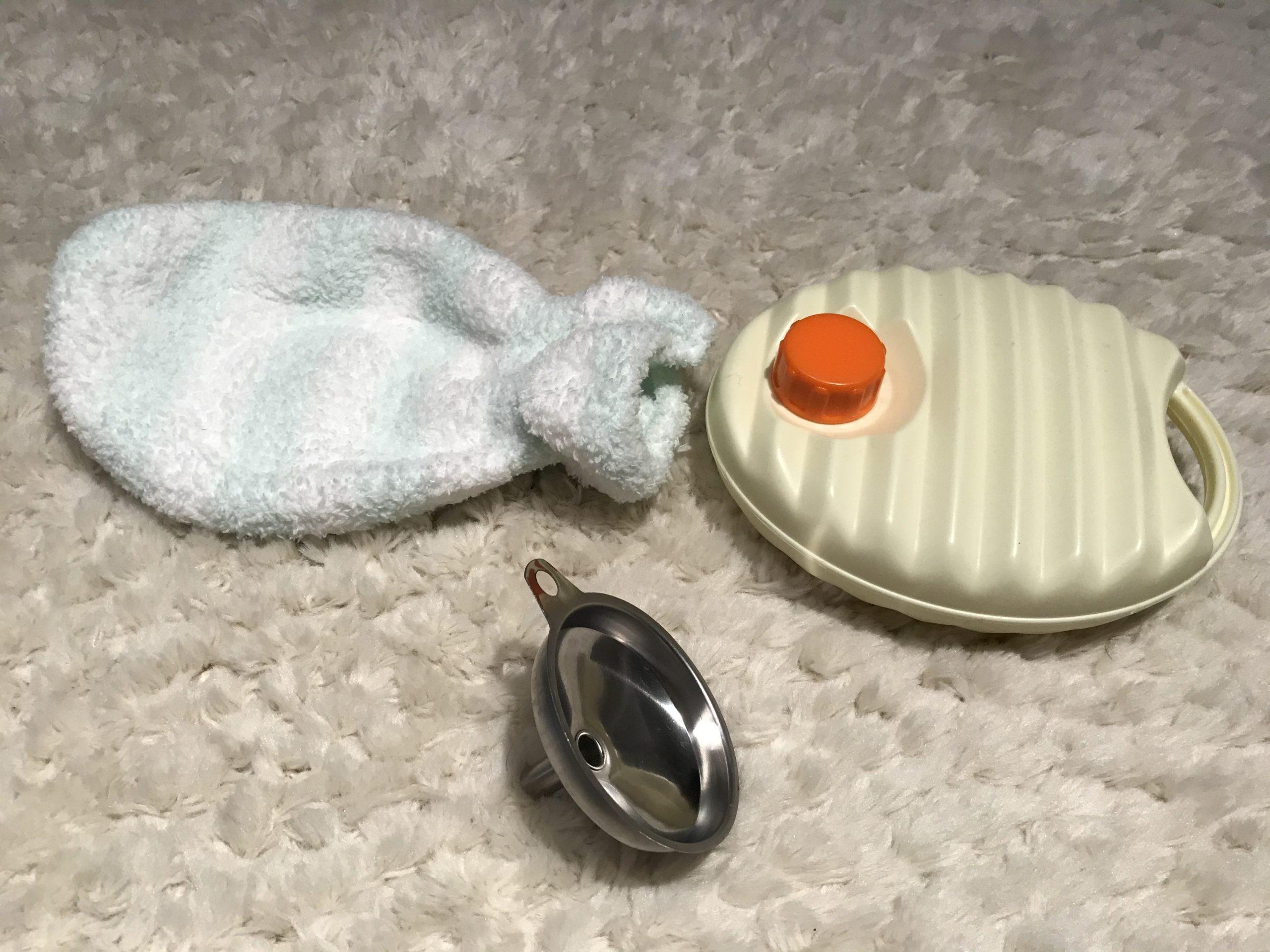 冬キャンプの便利グッズ(携帯湯たんぽ)