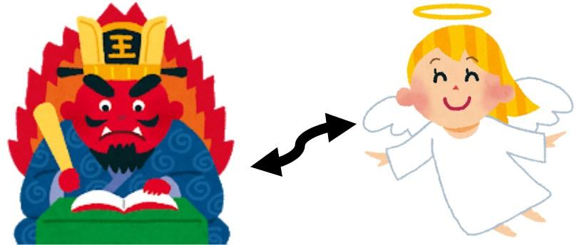 閻魔大王と天使
