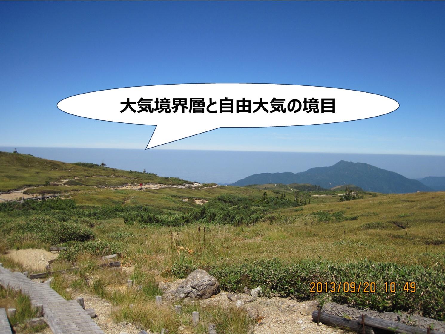 薬師岳で見た大気境界層