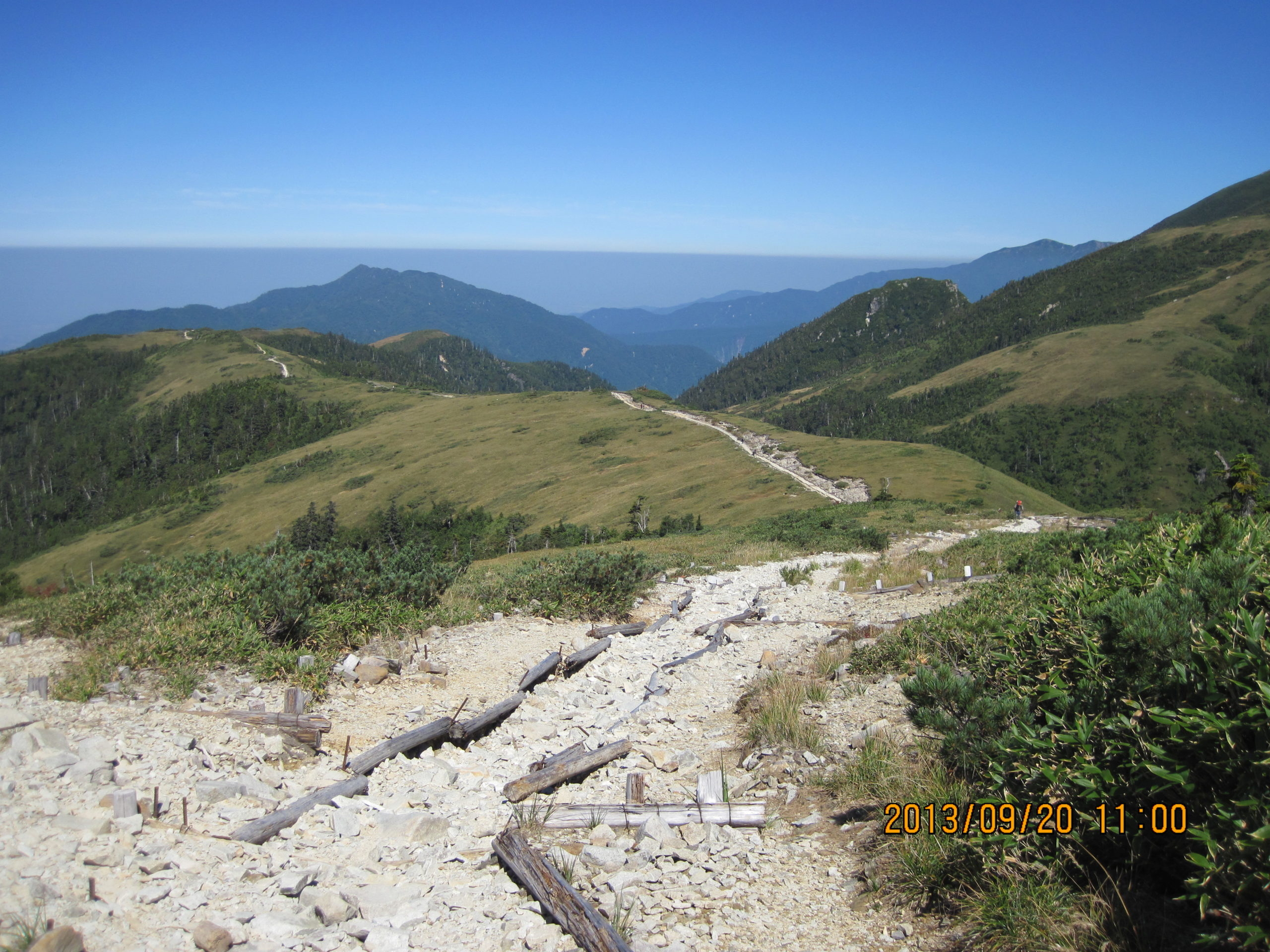 薬師岳で見た大気境界層1