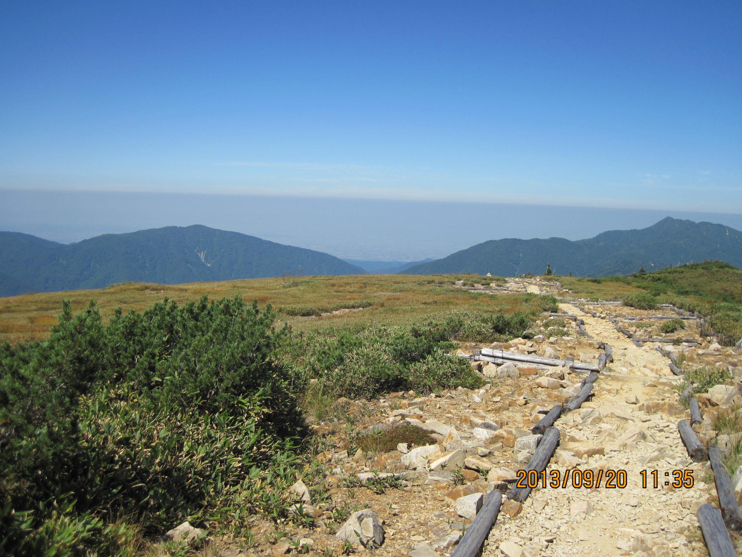 薬師岳で見た大気境界層2