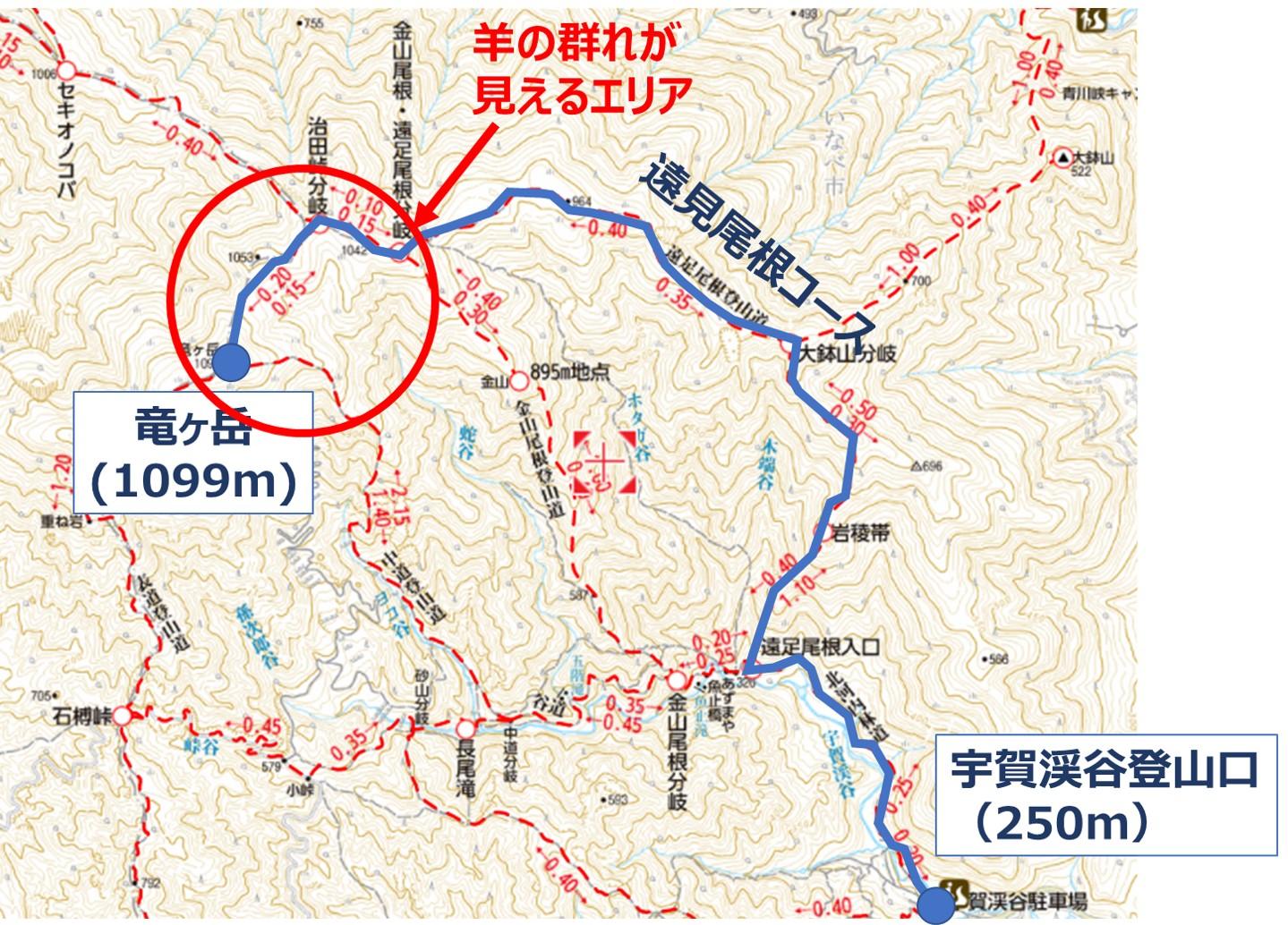 竜ヶ岳のおすすめ登山コース
