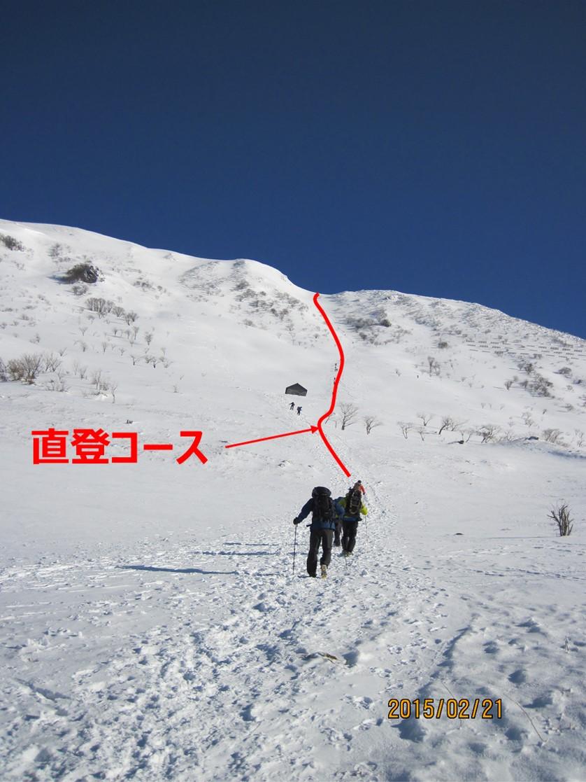 伊吹山で冬登山|直登コース