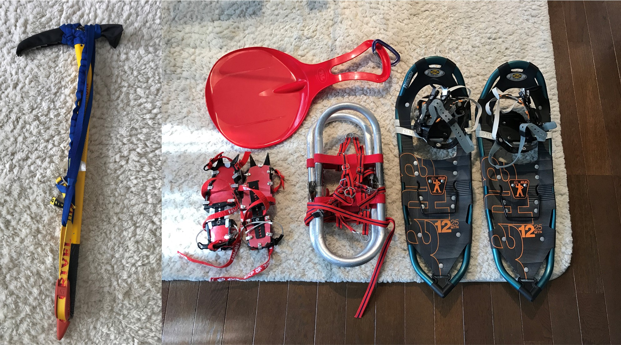 冬山登山の装備一式