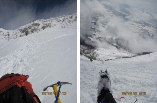 伊吹山で冬登山