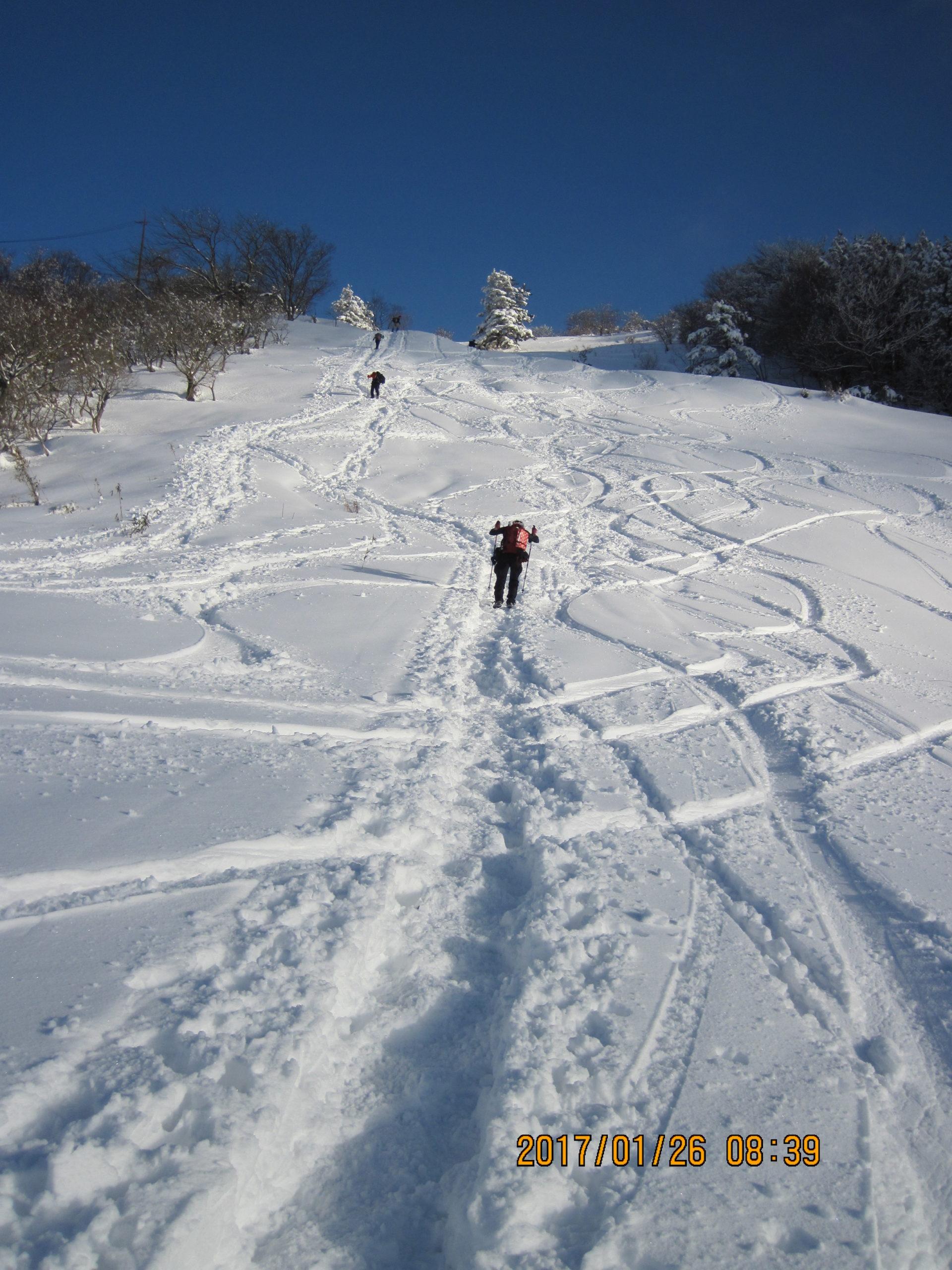 伊吹山で冬登山|1合目~5合目