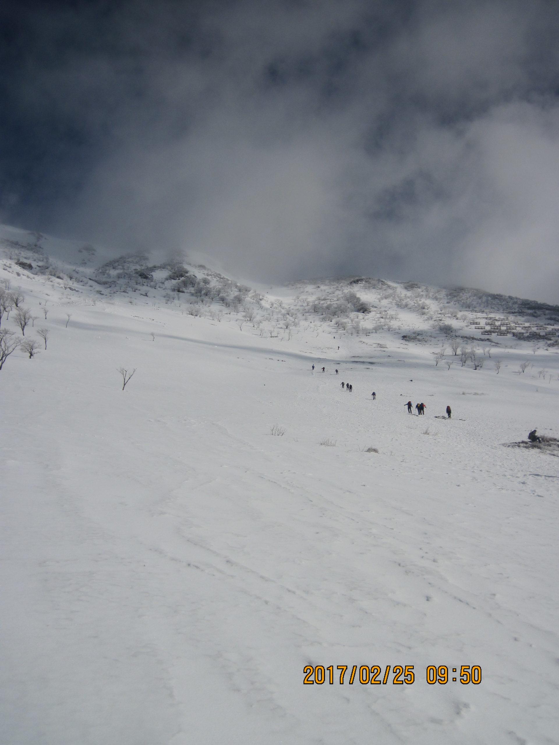 伊吹山で冬登山|スノーシューで歩く