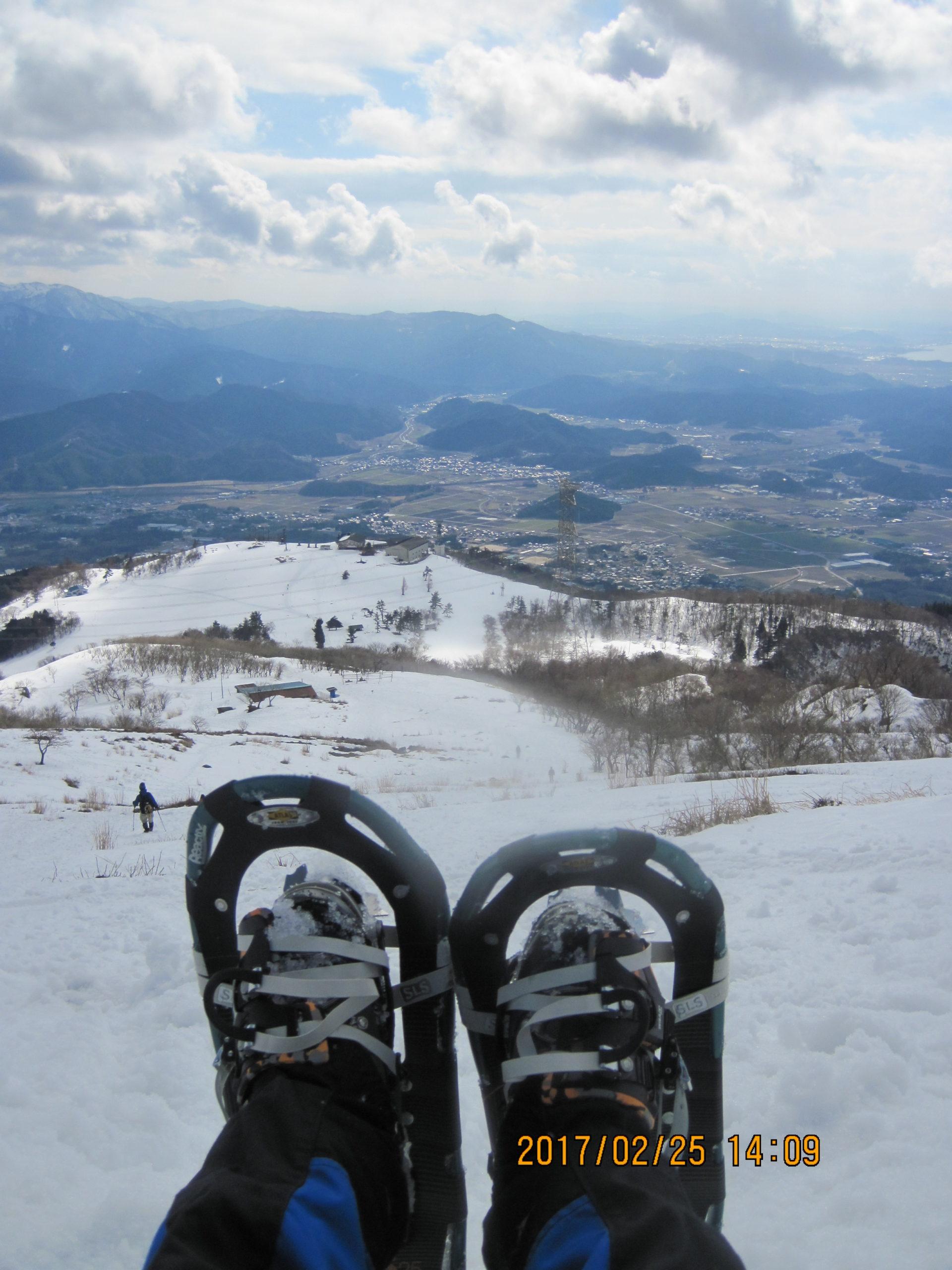 伊吹山で冬登山|スノーシュー