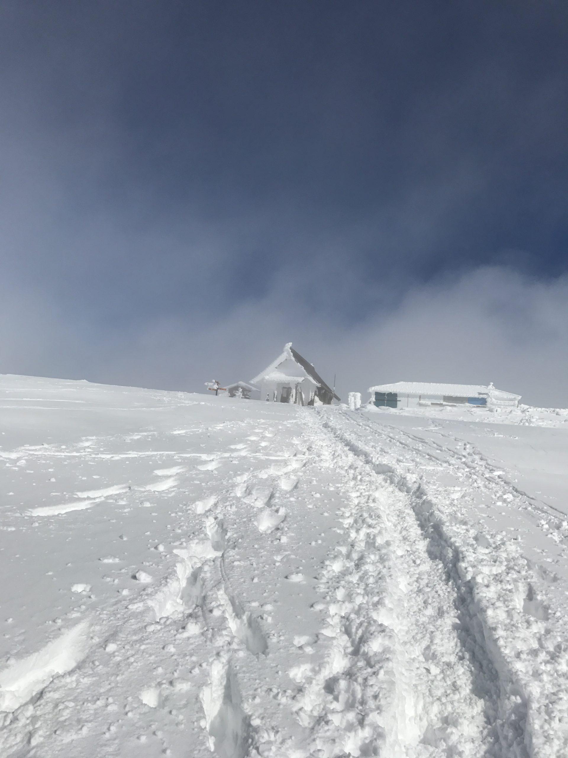 伊吹山で冬登山|9合目~頂上