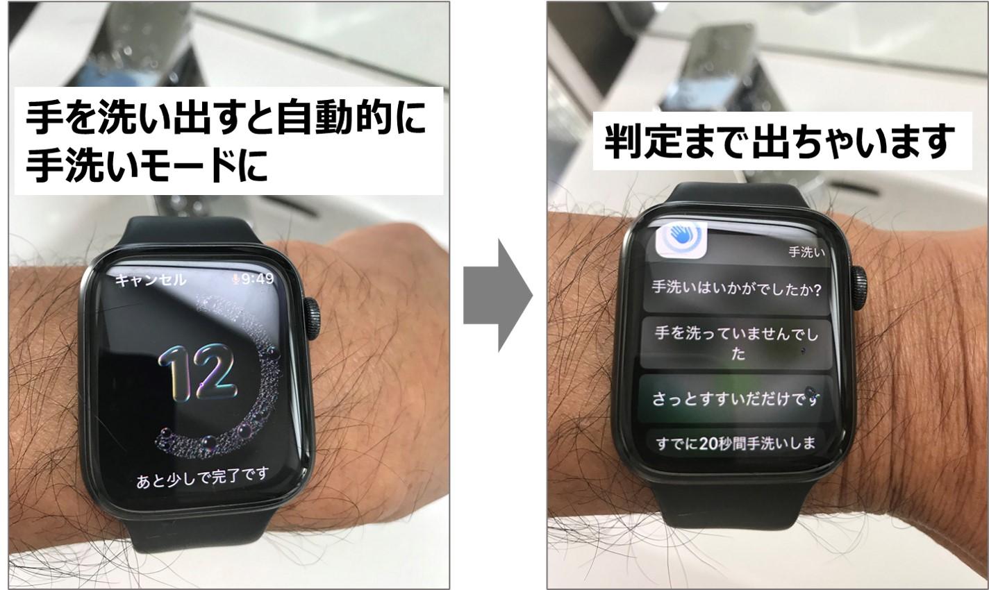 Apple watchで手を洗いましょう