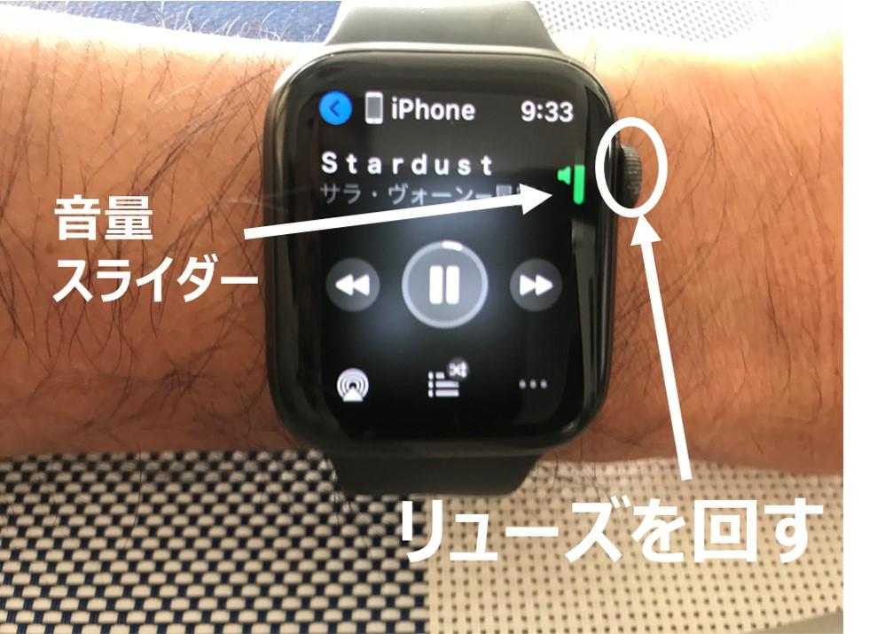 Apple watchで音量調節