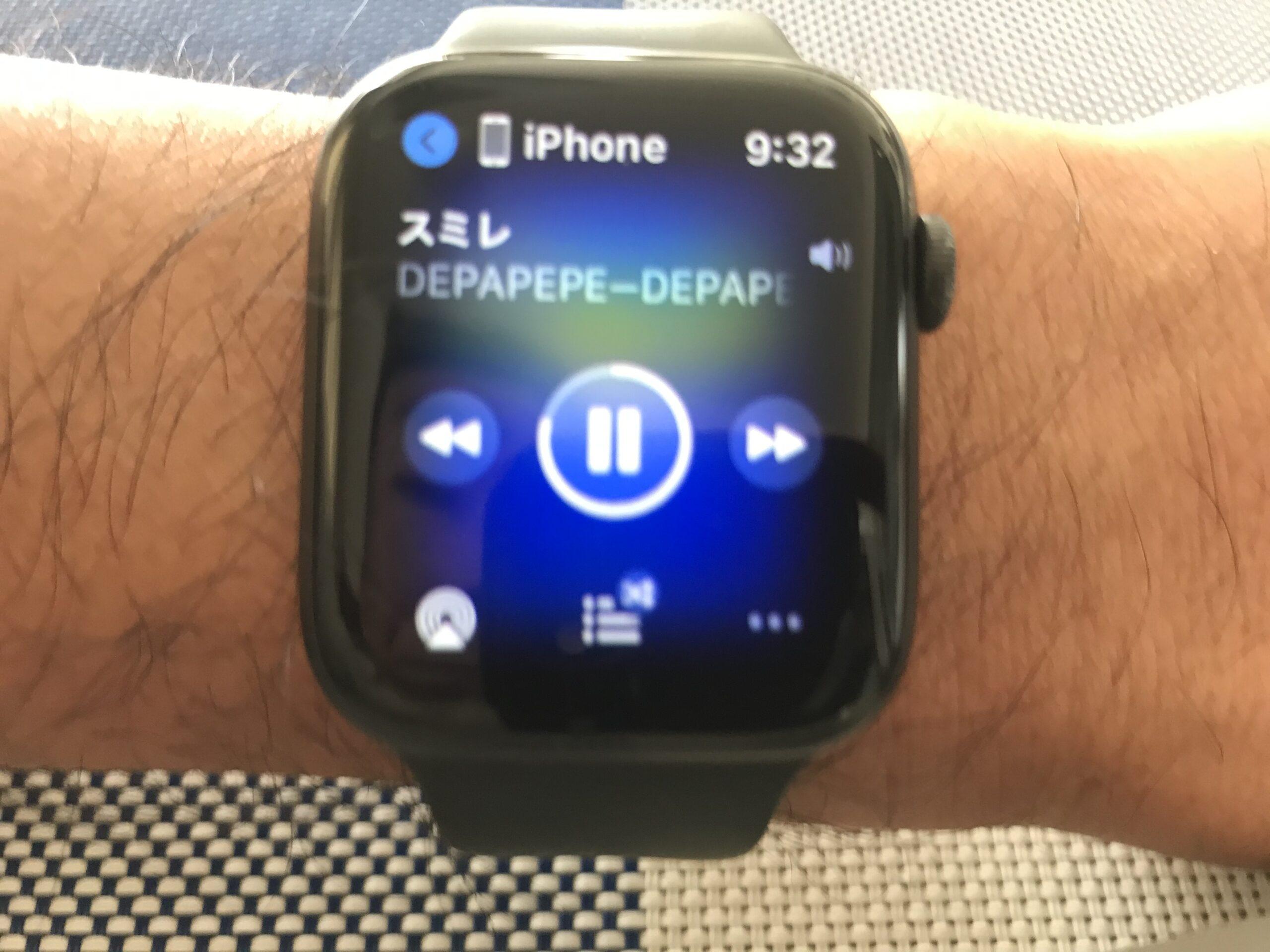 Apple watchで音楽を聴く
