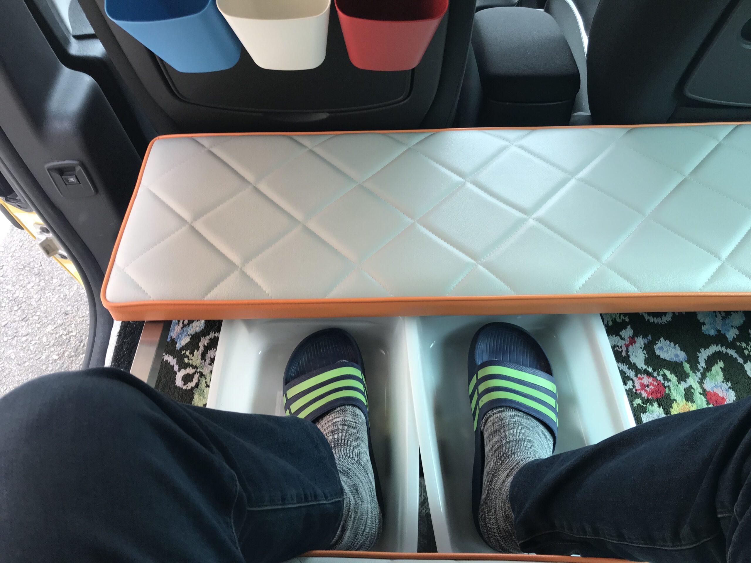 寝る時の靴の脱着