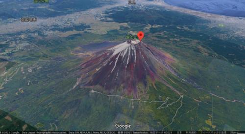 富士山のGoogle map