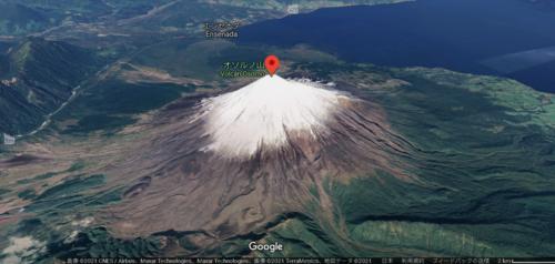 オソルノ山のGoogle map
