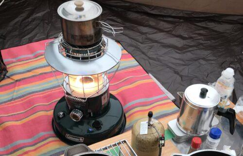 レインボーストーブの五徳で鍋を使う