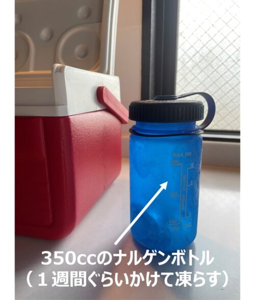 コールマン テイク6の保冷剤をナルゲンボトルで代用
