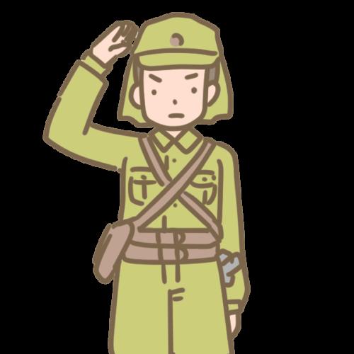 日本兵のイラスト