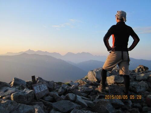黒部五郎岳から見る朝日